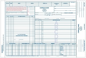 Marine Repair Order  with Claim Check